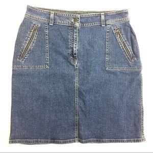 Eddie Bauer Women Size 16 Denim Skirt